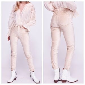 NWT Free People Sweet Jane champagne velvet pants
